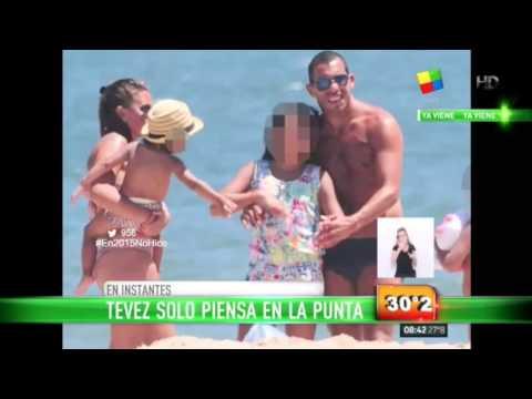 Carlitos Tevez recarga pilas en una mansión de Punta
