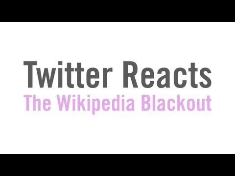 Twitter Reacts to the Wikipedia Blackout