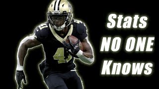Alvin Kamara: The BEST Running back of 2017. Here are 4 Stats Why