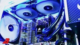 Как установить систему водяного охлаждения на ЦП Corsair H100i