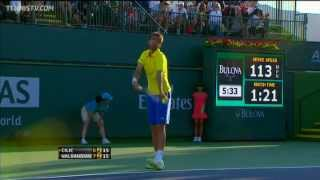 Cilic Hits Hot Shot