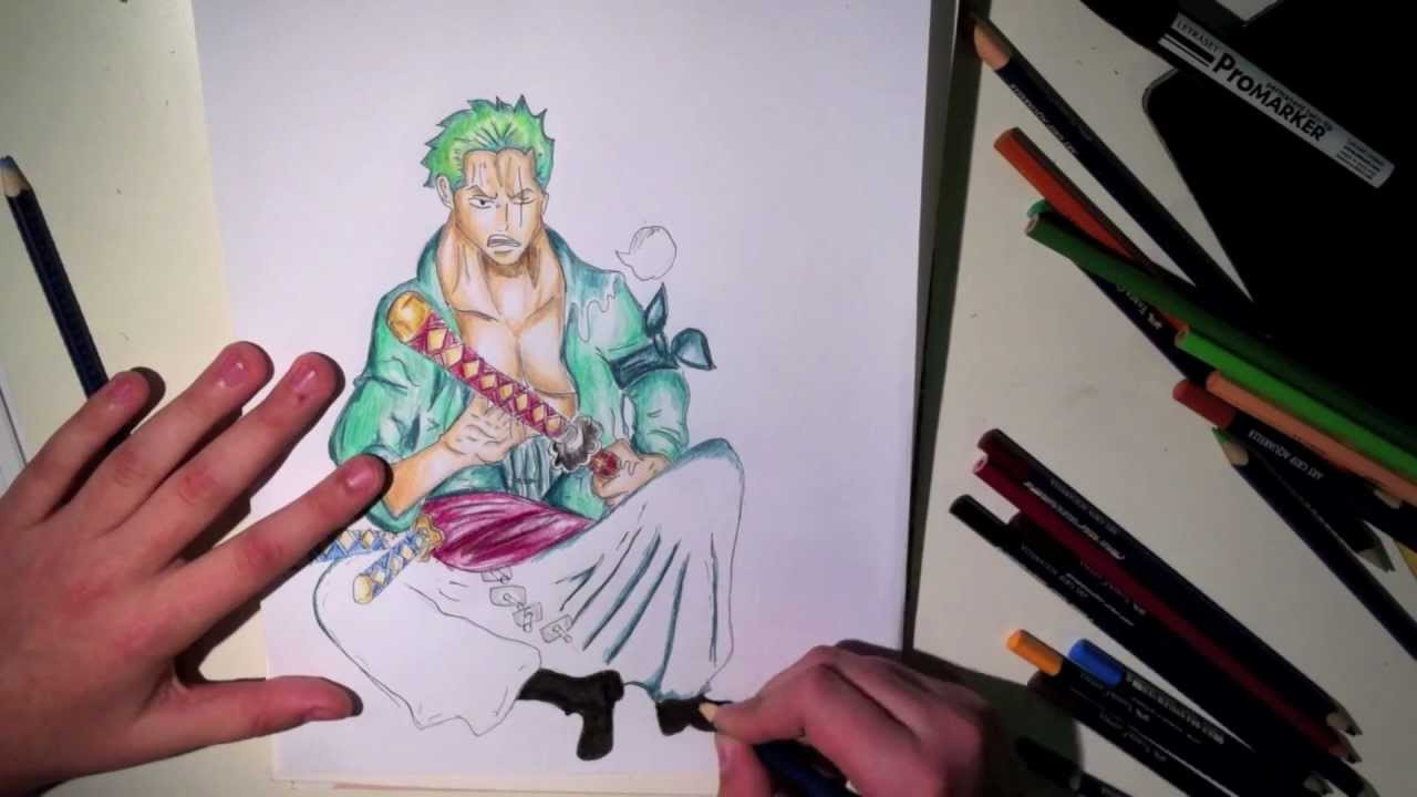 DRAWING RORONOA ZORO FROM ONE PIECE (2 YEARS LATER) - YouTube