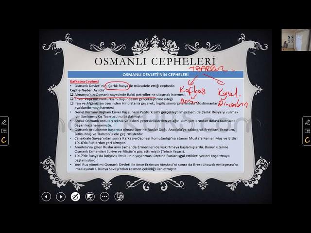 YKS (TYT AYT) Tarih - Osmanlı Cepheleri, Kafkasya Cephesi, Çanakkale Cephesi / nettekurs.com