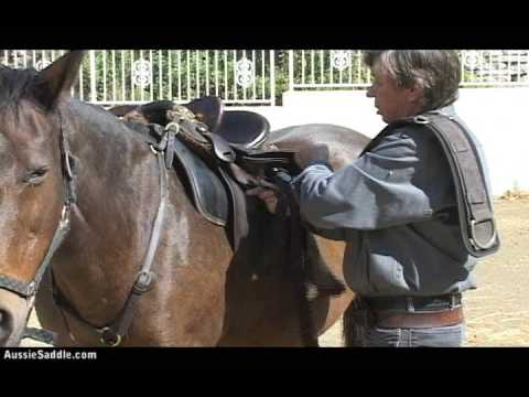 How To Do A Tackaberry Cinch, Australian Stock Horse Saddle Company