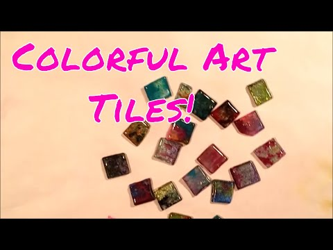 Melted Recycled CD Tile Embellishments!