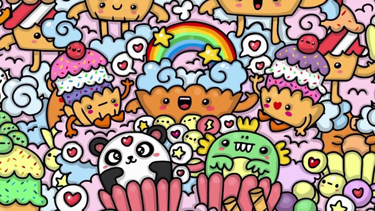 kawaii doodles graffiti cute cupcake drawings hello doodle