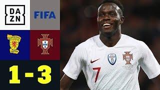 Traumtor Bruma, Vorlage von Renato Sanches | Schottland - Portugal 1:3 | Testspiel | Highlights