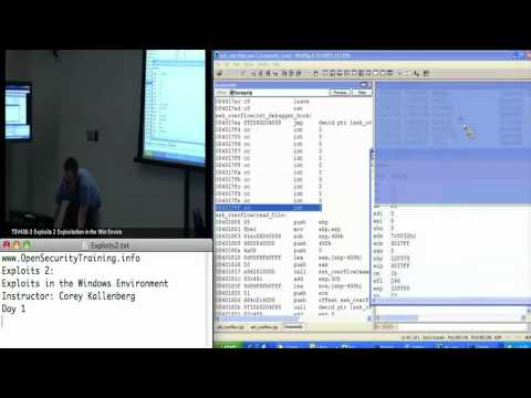 Day 1 Part 5: Exploits 2: Exploits in the Windows Environment