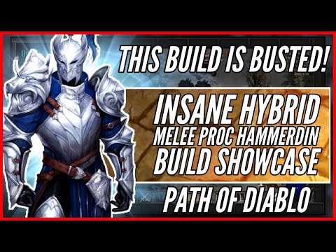 THIS BUILD IS BUSTED! 300%+ Magic Find Hybrid Melee Proc Hammerdin | Unlimited DPS | Path of Diablo