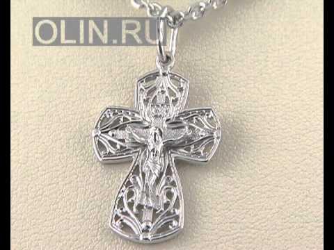 Золотой Крест Каучук красное золото и белое золото 940011 - YouTube