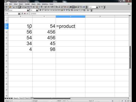 OpenOffice Calc functions: PRODUCT - YouTube