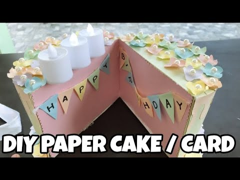 DIY PAPER CAKE na BIRTHDAY CARD! UNIQUE GIFT!