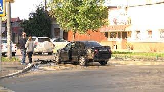 7 машин пострадали в аварии на перекрестке улиц Ленина и Гагарина