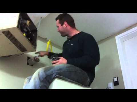Dangerous Venting Garage Unit Heater Http://www.calgarygasinspections.com/