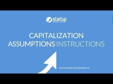Startup Financial Model - Equity Capitalization Assumptions