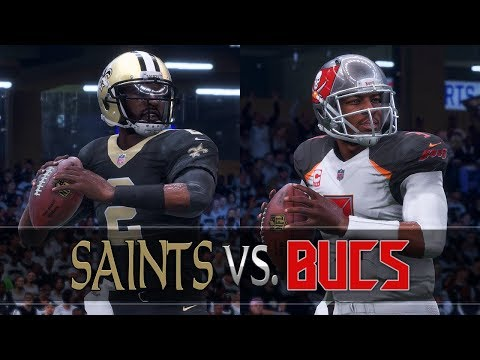 New Orleans Saints Franchise vs. Buccaneers [W12, S3] (Madden 18 Gameplay)