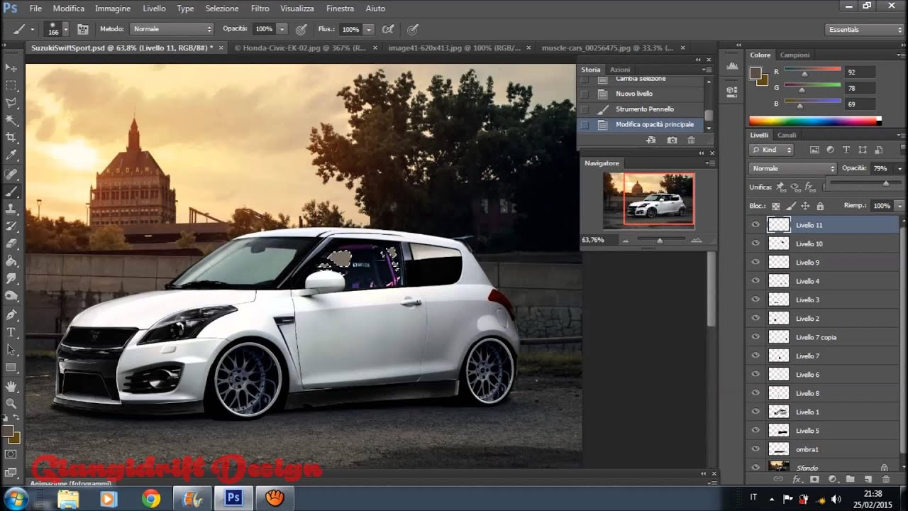suzuki swift sport virtual tuning photoshop youtube. Black Bedroom Furniture Sets. Home Design Ideas