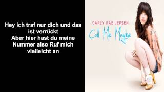 Carly Rae Jepsen Call Me Maybe Acoustic(deutsch Übersetzung)