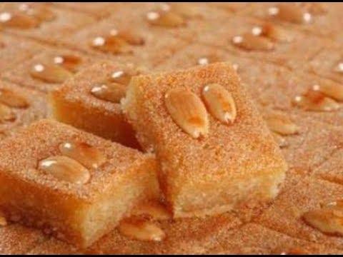 Lebanese Nammoura/Namoura/Basbousa/Hrisi Recipe - EASY, DELICIOUS LEBANESE SEMOLINA CAKE RECIPE!