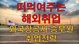 [떠먹여주는 청년 해외취업] 외국항공사 승무원 취업전략…