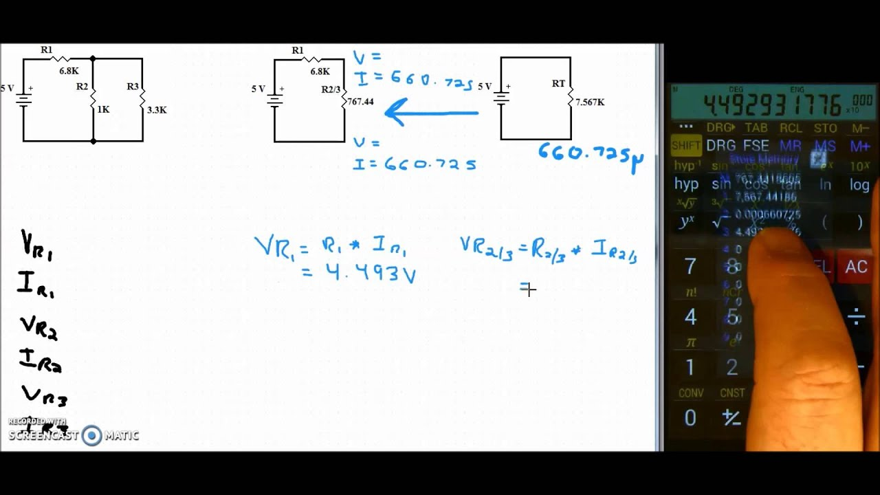 Calculating A Series Parallel Circuit Youtube Formula And
