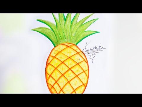 Como Desenhar Abacaxi Facil Amanda Karla Youtube