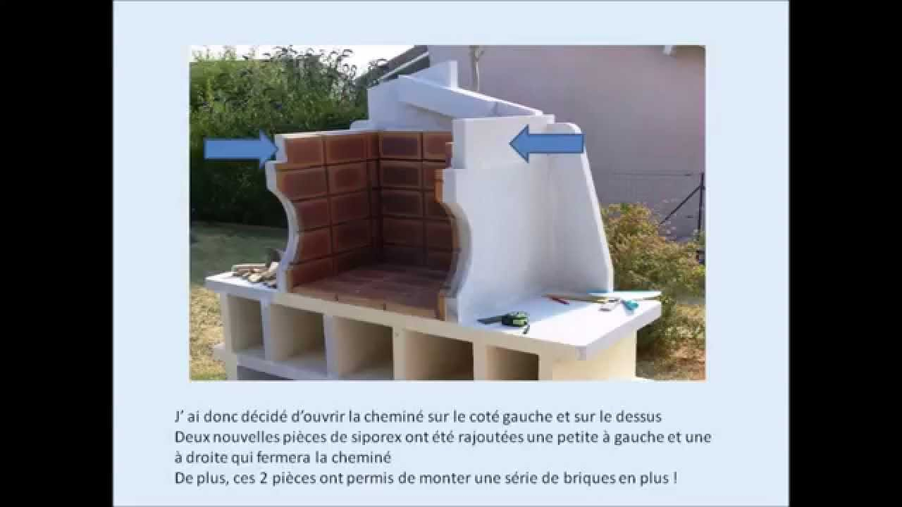 R aliser un barbecue en siporex ou b ton cellulaire youtube for Fabrication barbecue exterieur