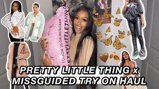 HUGE FALL 2020 TRY ON HAUL trendy + affordable   MISSGUIDED & PRETTYLITTLETHING