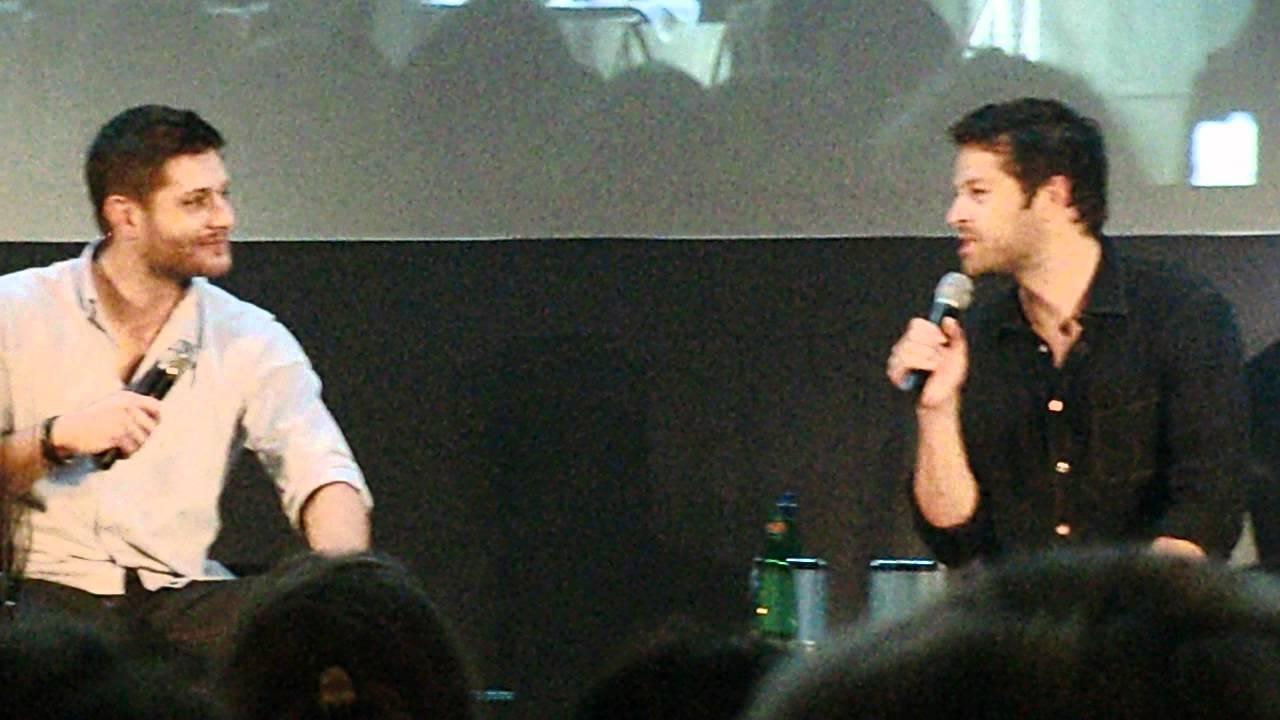 JIB3   98   Jensen U0026 Misha Reenacting Jared Replying U0027youu0027re Welcomeu0027 To A  Fan Thanking ...   YouTube