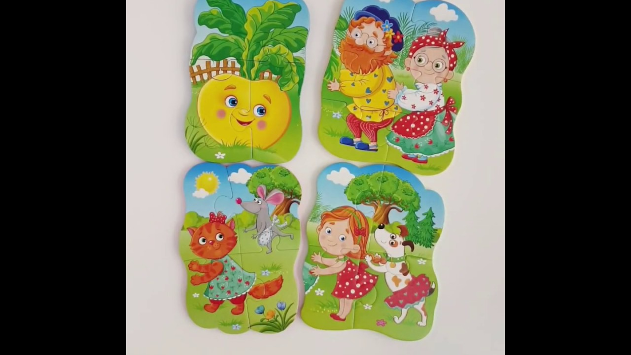 Vladi Toys VT1106-63 Мягкие пазлы Baby puzzle Сказки Репка
