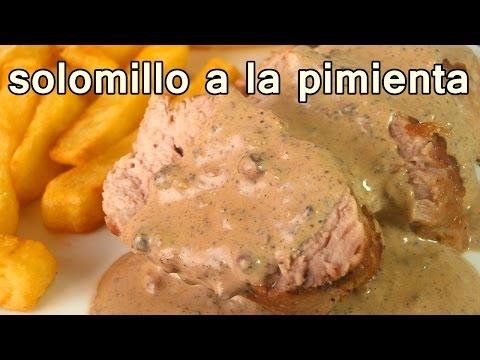 Solomillo a la pimienta doovi - Solomillo de cerdo encebollado ...