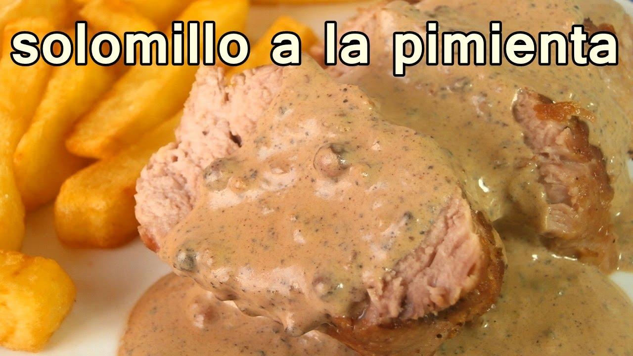 Solomillo De Cerdo A La Pimienta Recetas De Cocina Faciles Rapidas Y Economicas De Hacer