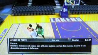 NBA 2K11 - Movimientos en el Poste