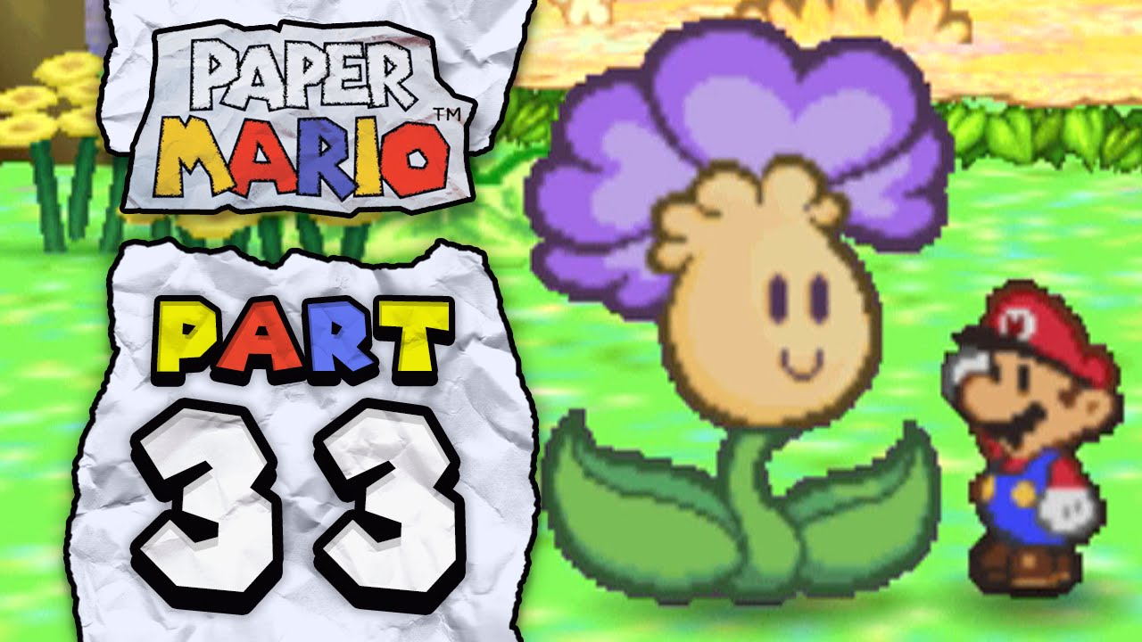 Paper mario part 33 flower field youtube paper mario part 33 flower field mightylinksfo