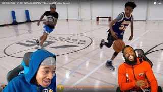 Reacting To FLIGHT TRIES TO STEAL THE BALL FROM 13 OLD MILES BROWN! I'M CRYING LAUGHING!