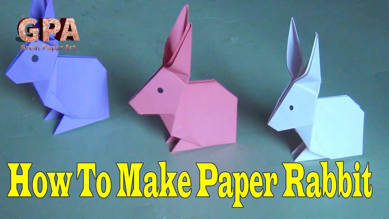 how to make a paper rabbit paper craft rabbit great