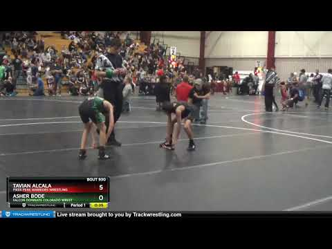 True Beginner Novice 64-66 Tavian Alcala Pikes Peak Warriors Wrestling Vs Asher Bode Falcon Domina