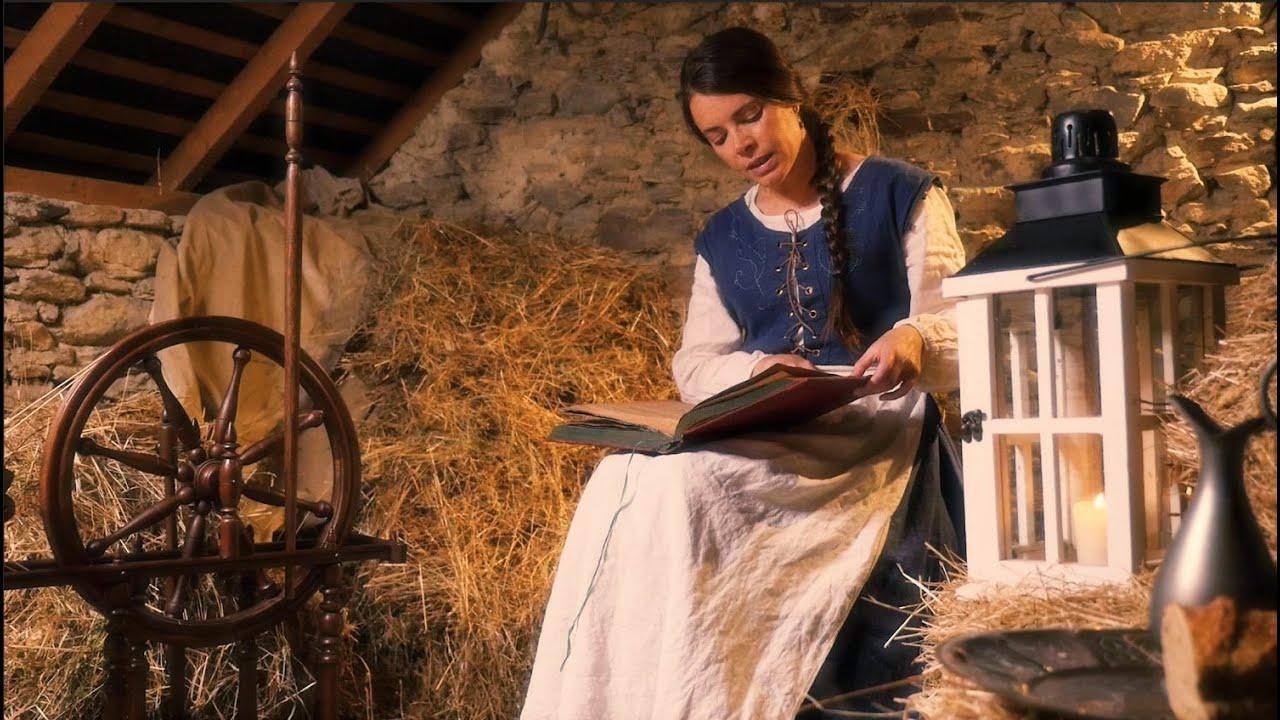 Rumpelstiltskin | ASMR Reading | English Version (soft spoken, page turning, spinning wheel)
