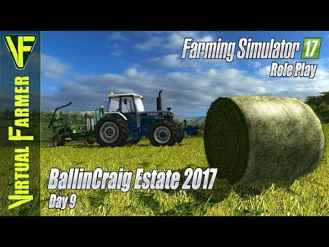 Wrapping Up The Grass | BallinCraig Estate 2017, Day 9 | Farming Simulator 17 Role Play