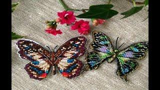 Бабочки от ТМ Низанка обзор набора и впечатления, вышивка крестом