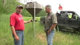 How to use gravity deer feeding systems.