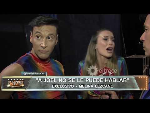 El llanto Melina Lezcano después de un cruce con Joel Ledesma