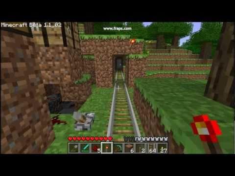 MineCraft: Minecart Track Switch In Transit!