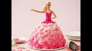 видео Торт для девочки, детский торт Барби