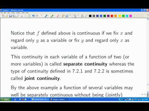 Lecture 14a: Math. Analysis - Sequence definition of continuity
