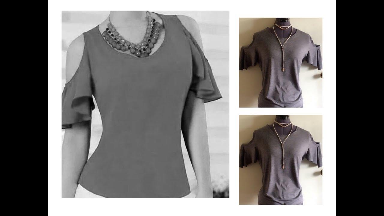 56c322b5b Blusa de moda con hombros descubiertos - YouTube