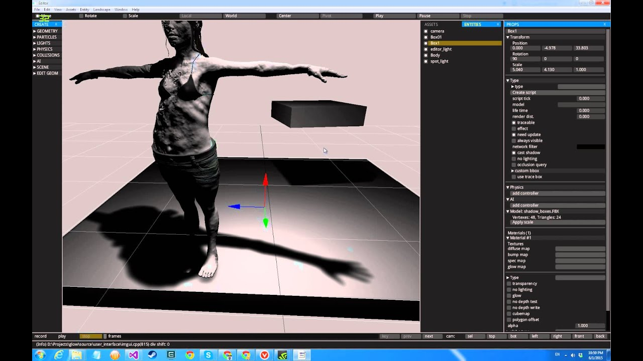 GLOW editor - IMGUI + object manipulation