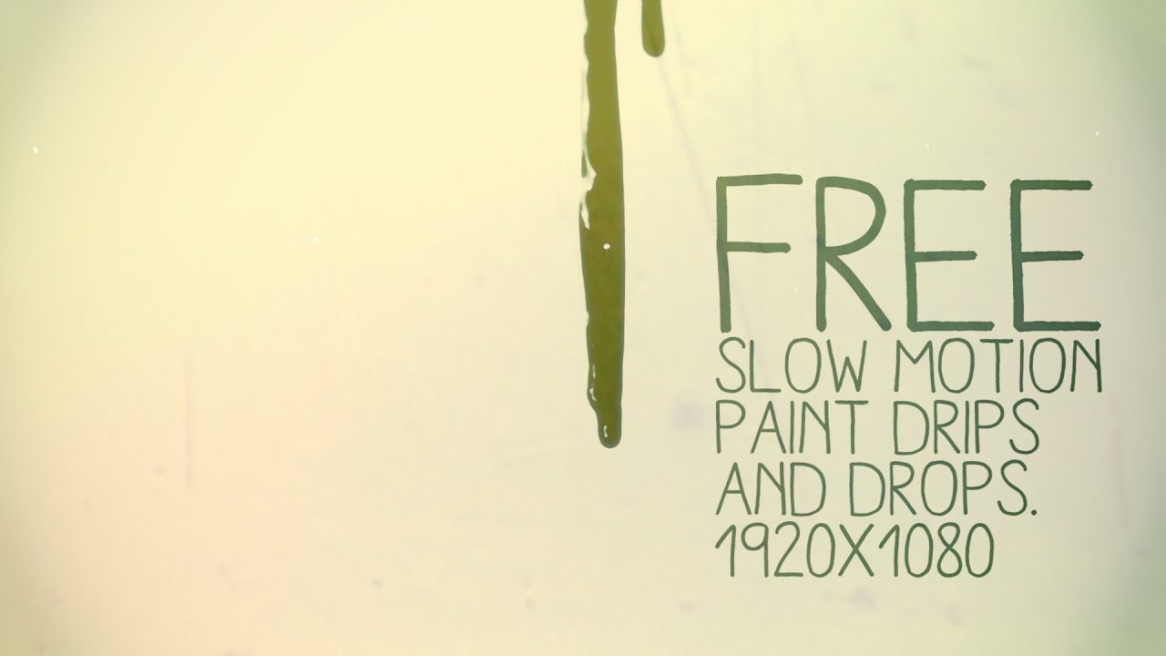 FREE Paint DRIPS and DROPS for your videos projects! - YouTube