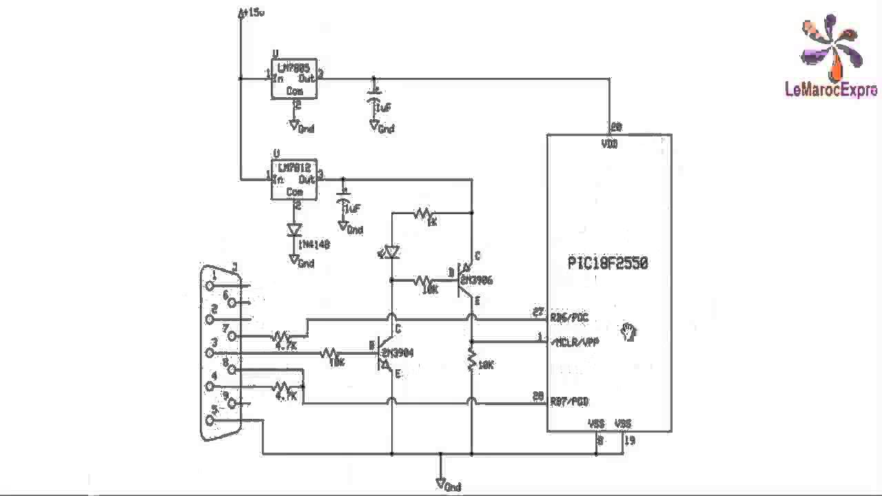 Pic Programmateur De Sans Circuitdiagramtointerfaceuartwithpic16f877aprimer