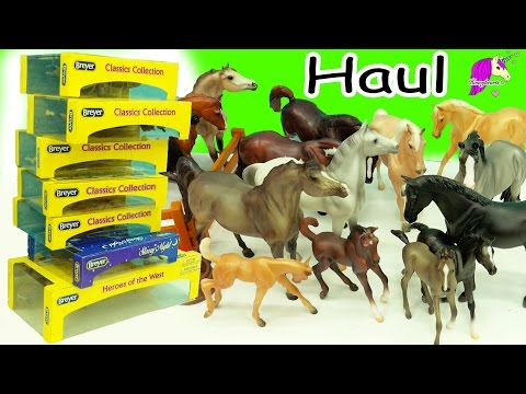Breyer Classic Horse Haul - Stallion, Mare, Baby Horse Foal, Family Sets + Review Video